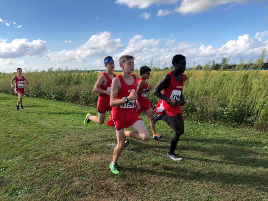 Four+St.+Louis+runners+stick+together+on+the+tough+course.