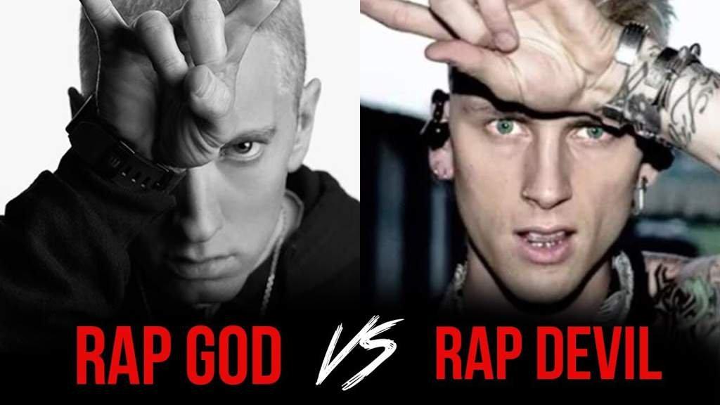 Eminem faces off against Machine Gun Kelly.