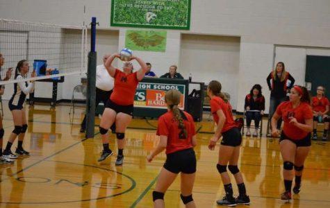 JV Volleyball plays hard against Bulldogs