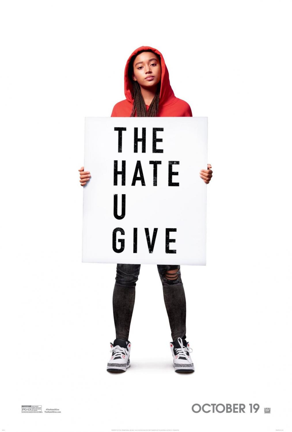 The Hate U Give movie poster.