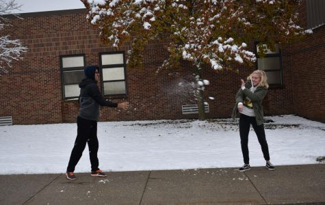 Foreign Exchange Students enjoy first snowfall