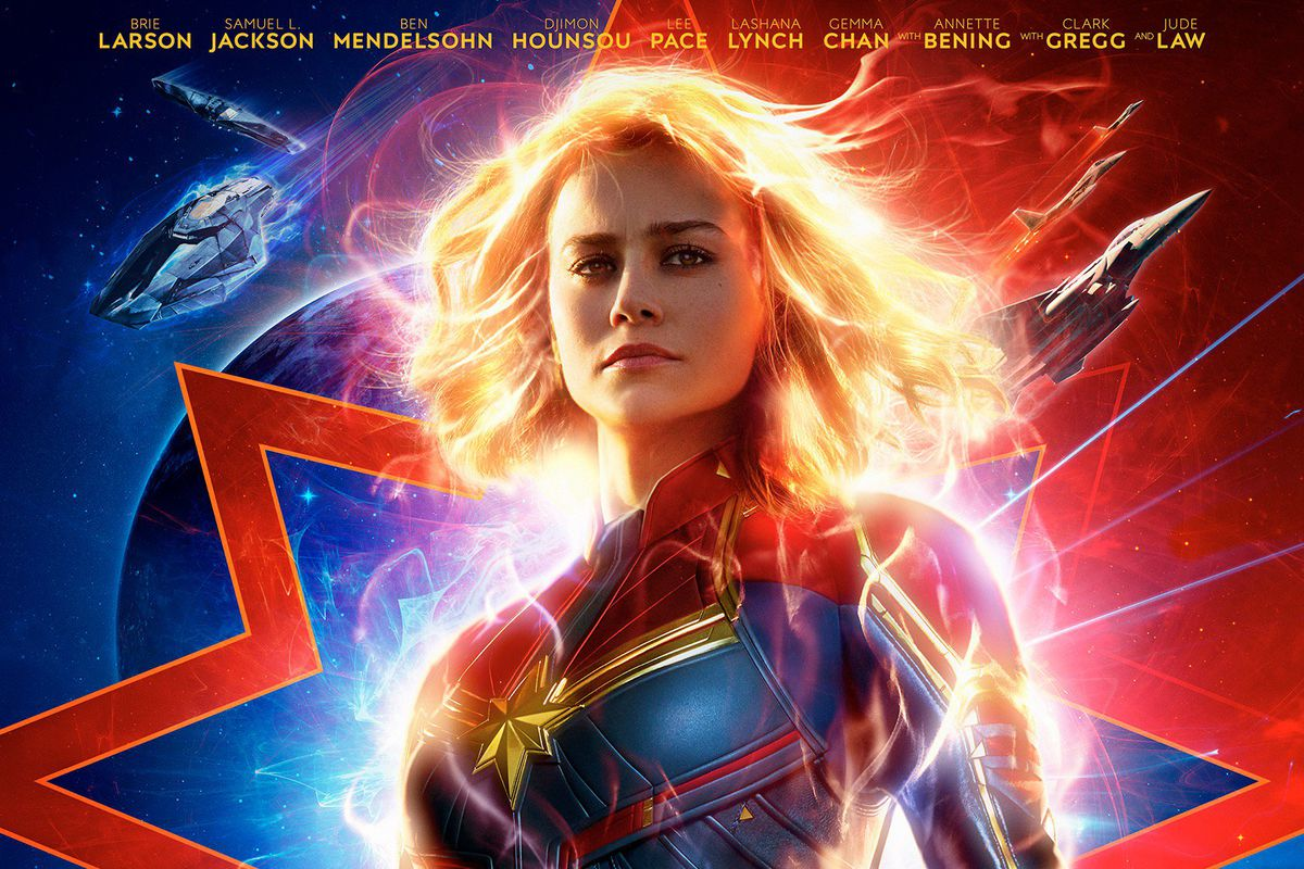 Captain Marvel movie poster.