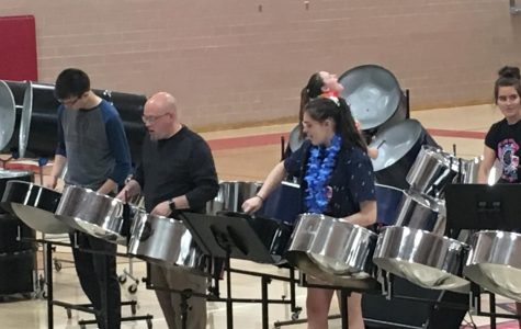 High School steel drum band performs at assembly