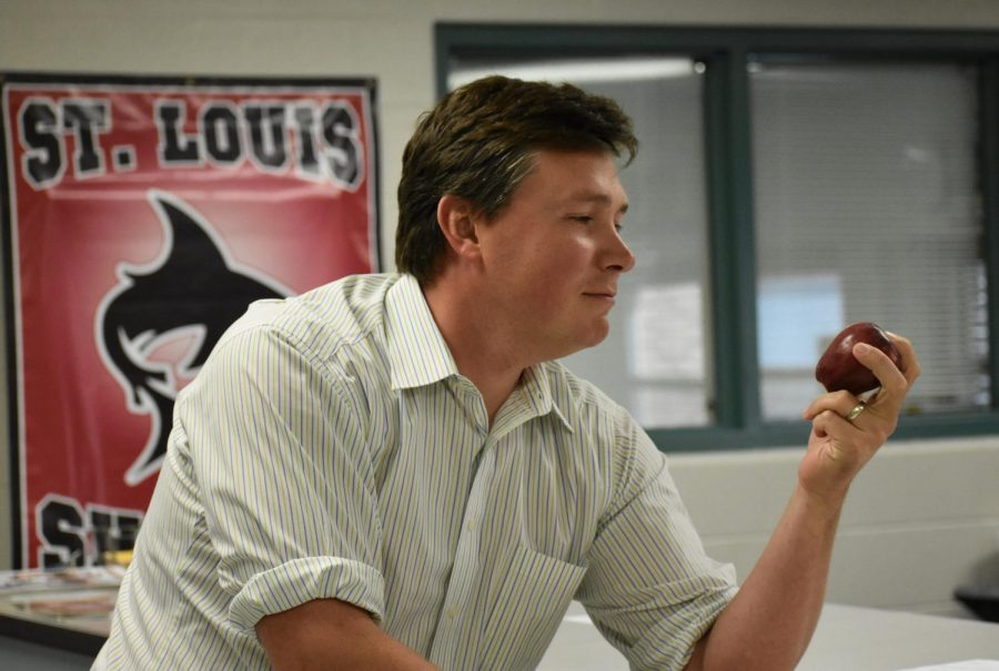 Mr. Huff feels right at home at St. Louis High School.