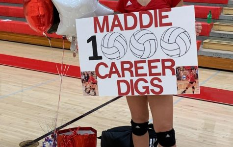 Maddie Greenup reaches volleyball milestone: 1000 career digs!
