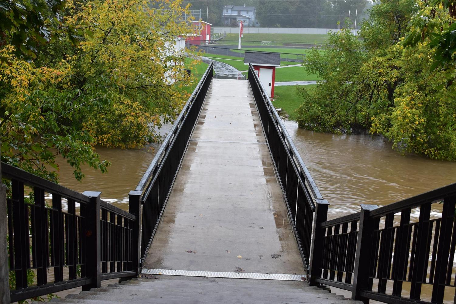 The high river conditions caused a relocation of homecoming.