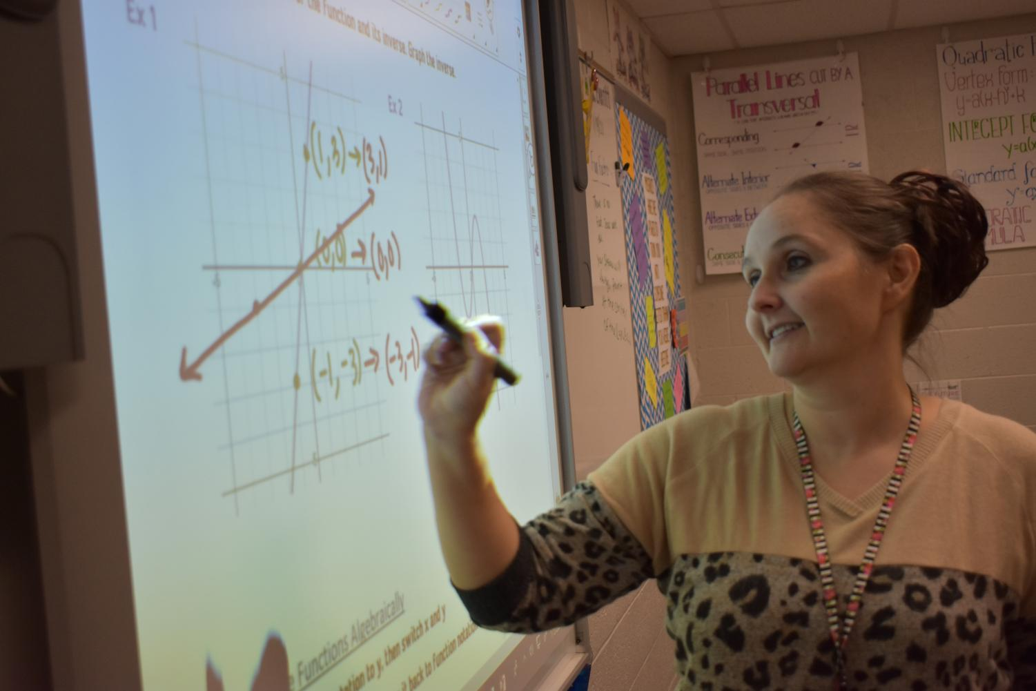 Ms. Everitt passionately teaches math to her students.