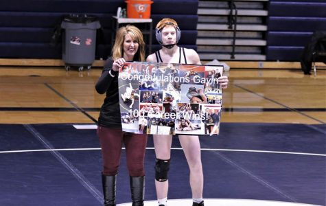 Wrestling starts TVC competition 2-0; Giles earns 100th win