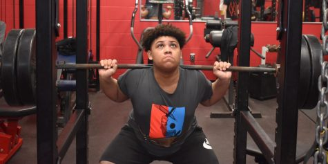 Sophomore Bentley Scott is putting in work in the weight room to prepare for the upcoming season.