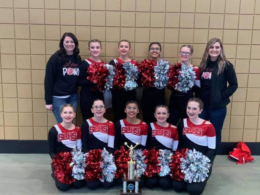 Poms left it all out on the court as they placed fifth at State.