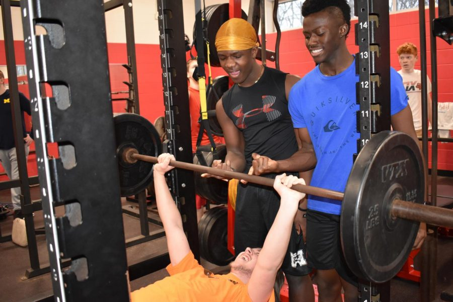A few students are enjoying the elective of Strength and Conditioning.