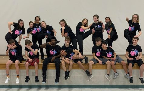 The poms team had a great time performing their Guy Girl routine.