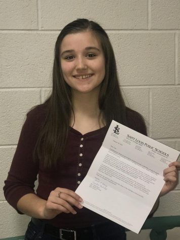 Sophomore Leah Chvojka received an invitation to NHS.