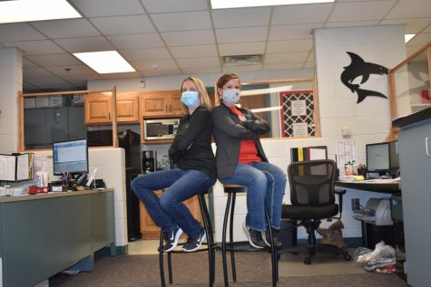 Joy March (left) and Sara Shattuck (right) are the two ladies in the front office.