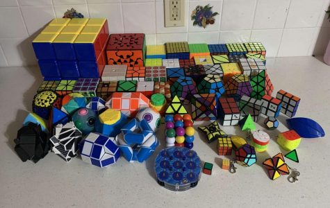 Markwell's enormous Rubik's Cube collection.