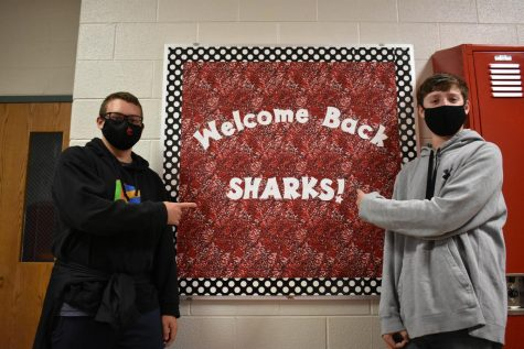Colton Markwell (left) and Bryce Francisco (right) are excited to be back to school in person.
