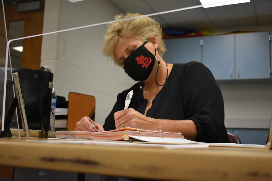 Mrs. Hanline has been a major help this school year.