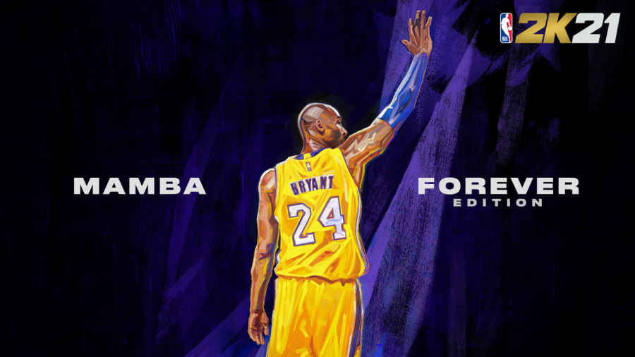 Promotion for NBA 2K21 Mamba Forever edition.