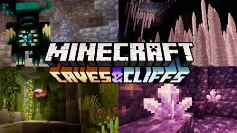 Promotion for Minecraft: Caves and Cliffs.