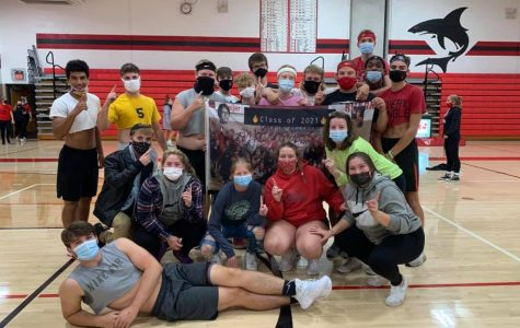 The seniors won every game to sweep the competition.