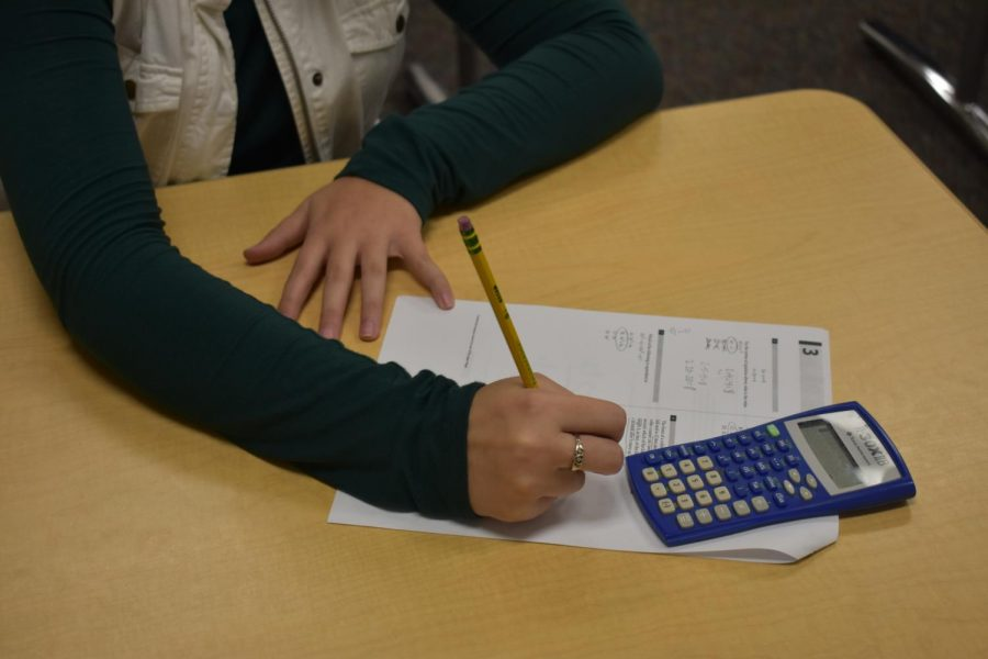 An SLHS student prepares for the upcoming SAT.