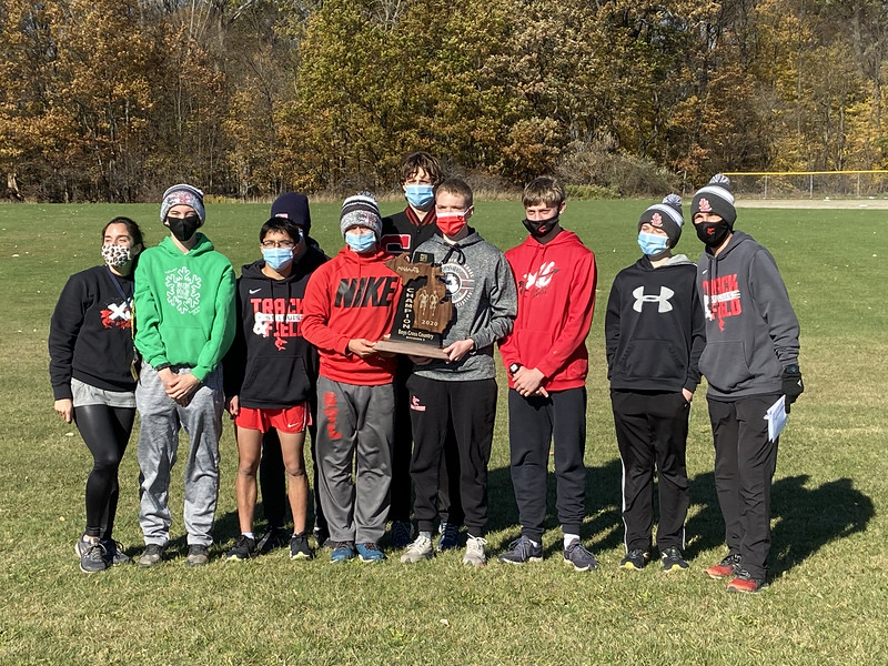 The boys' team won the regional meet for the second year in a row.