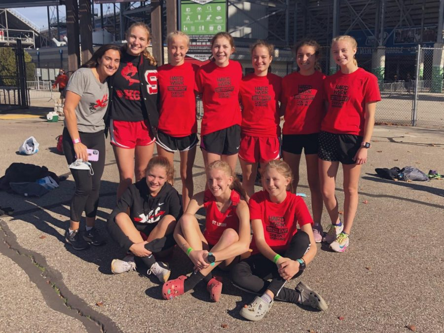 The girls' team placed fourth at the state meet--the program's best finish ever.