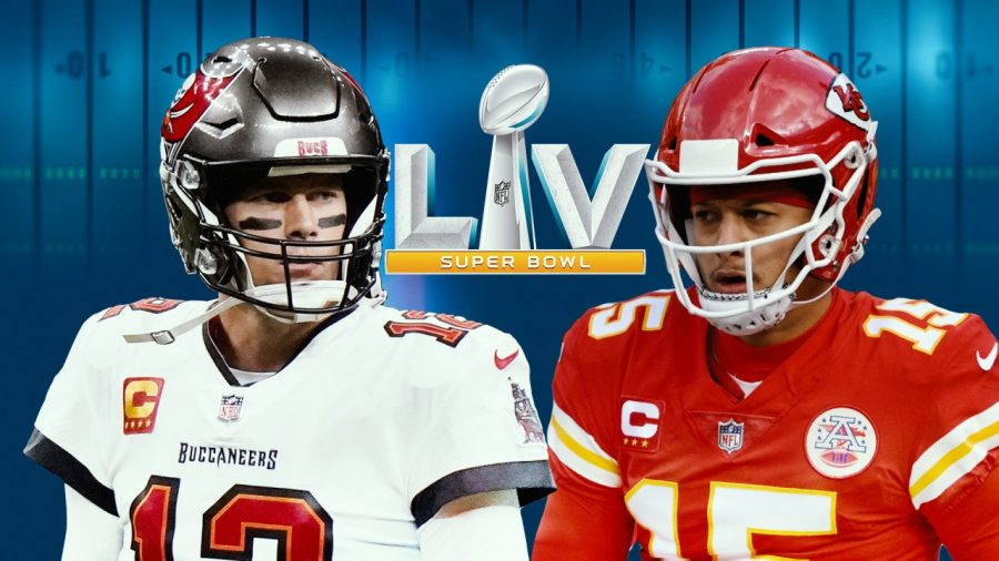 Tom Brady (left) and Patrick Mahomes (right) will face off in the Super Bowl.