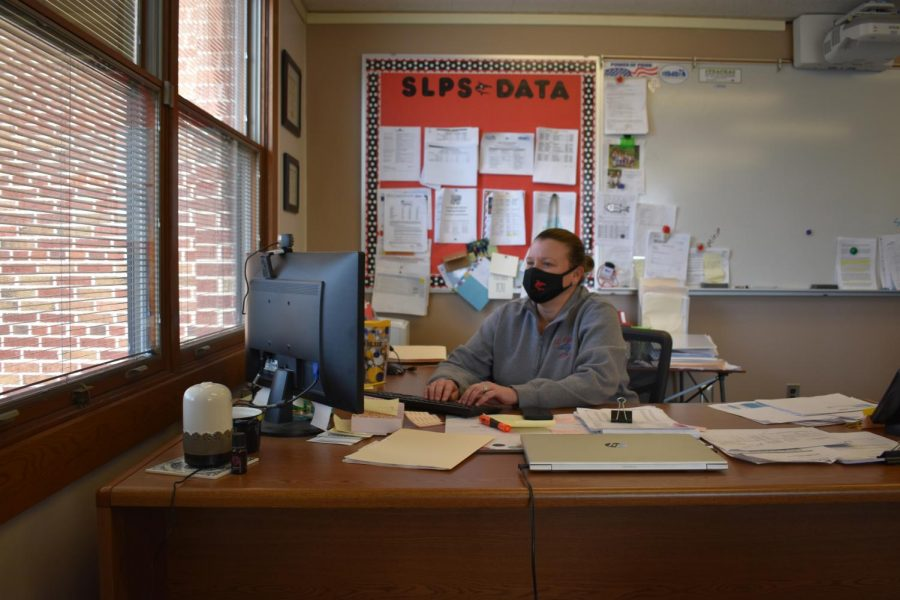 Mrs. McKittrick is hard at work as St. Louis Superintendent.