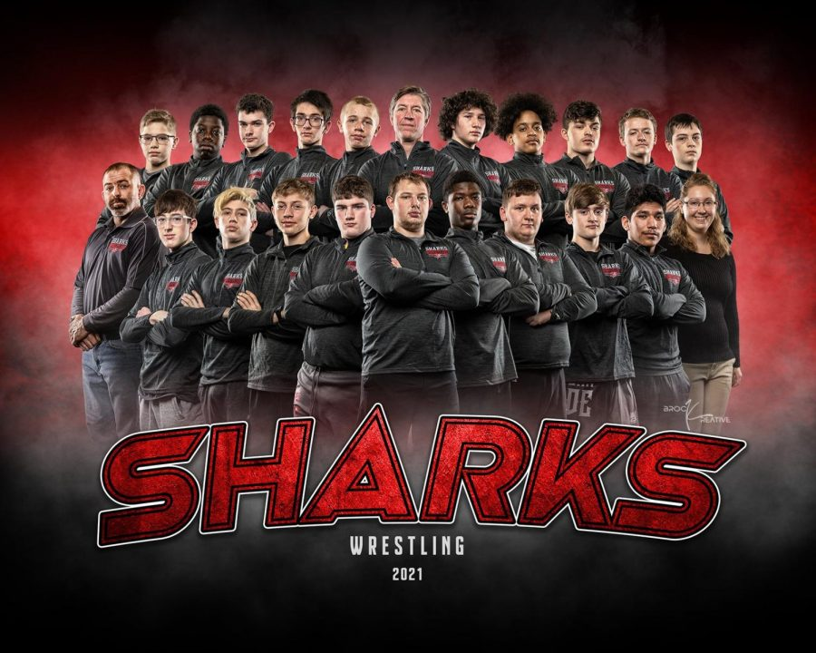 The Sharks hosted three other teams for a quad meet.