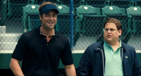Brad Pitt (left) and Jonah Hill (right) star in this hit movie.