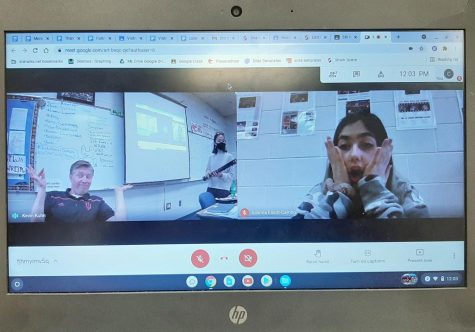 St. Louis Student shocked by her classmates Google Meet presentation.