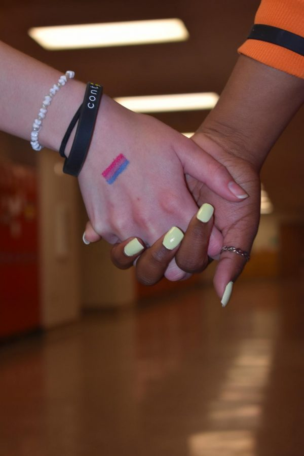Students show pride and diversity while walking down the halls of St. Louis High School