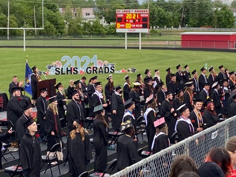 St. Louis class of 2021 celebrated graduating at graduation.