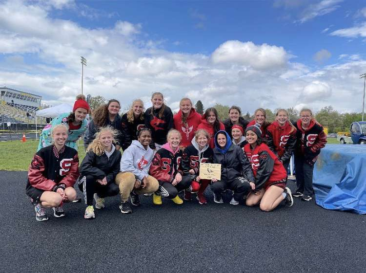Girls' track team beat the competitors at Shepherd invite.