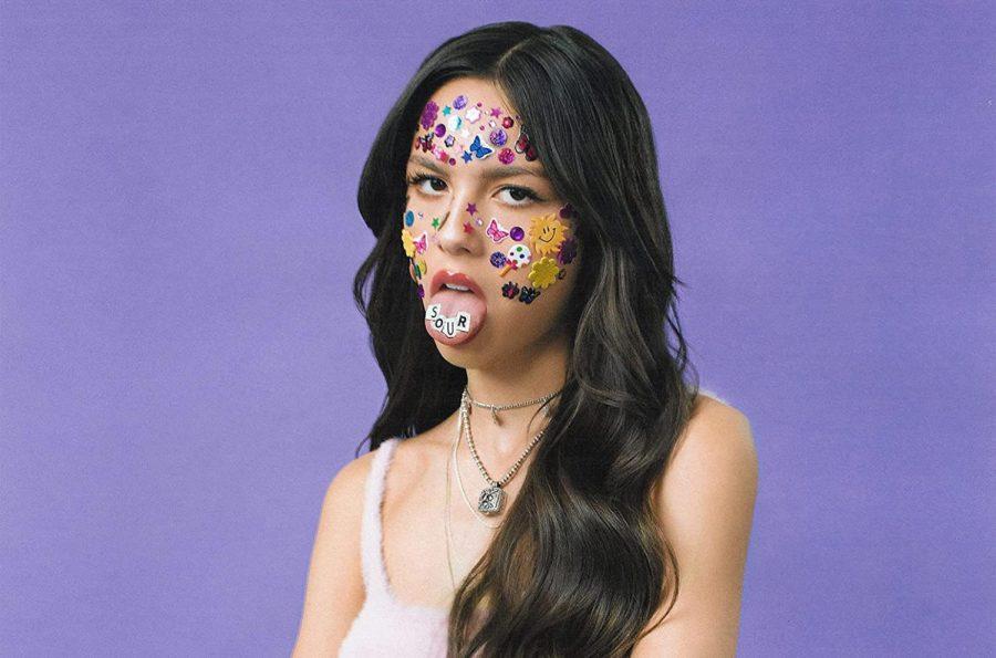 Olivia Rodrigo poses for the cover of Sour.