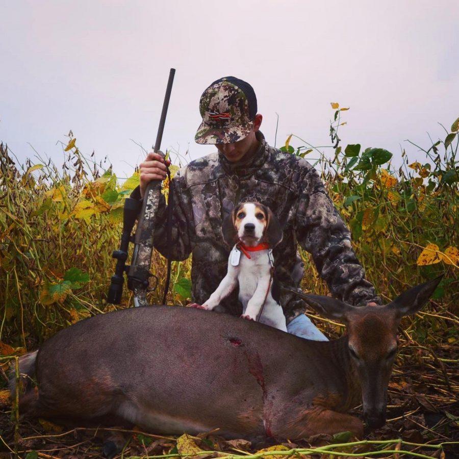 Ashton+Leonard+and+his+lucky+companion+with+their++youth+hunt+doe.+