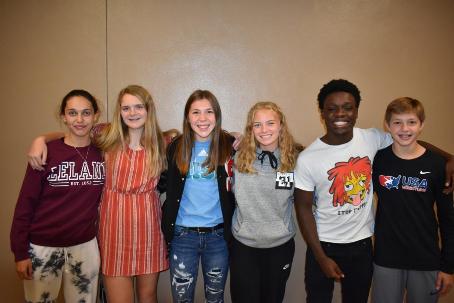 A group of homecoming nominees pause for a photo opportunity.