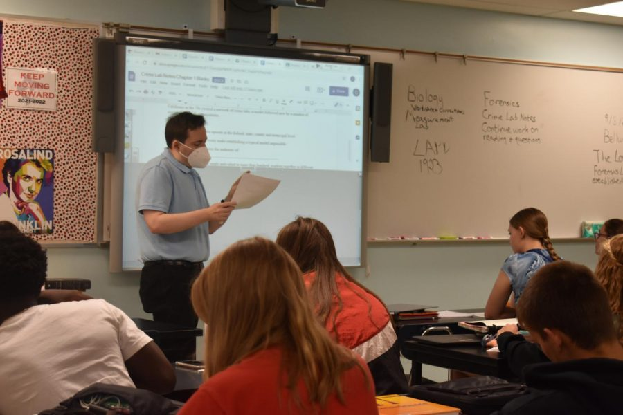 Mr. Bunce teaches forensic science.