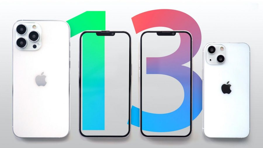 Apple promting photo of the Iphone 13.