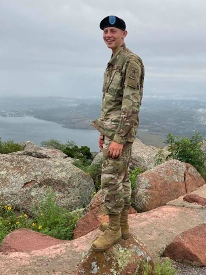 Nate March poses for a picture in his boot camp uniform.