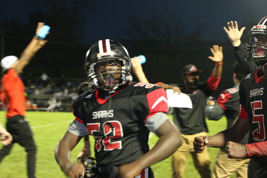 Udter Tweh celebrates the win of SLHS homecoming varsity football game!